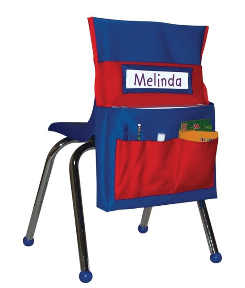 Chairback Buddy - Red and Blue