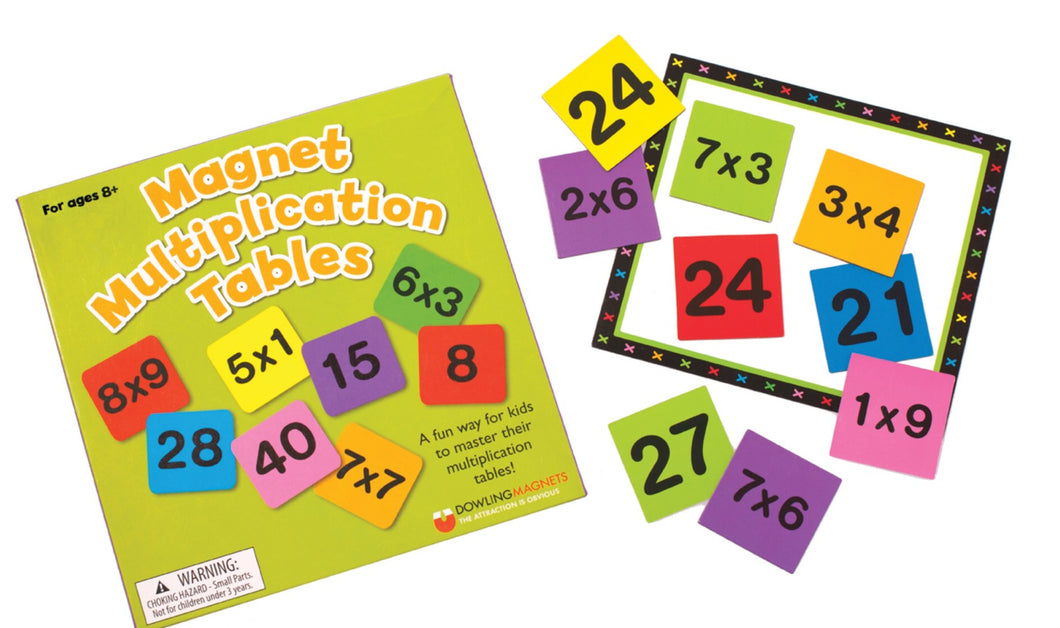 Magnet Multiplication Tables