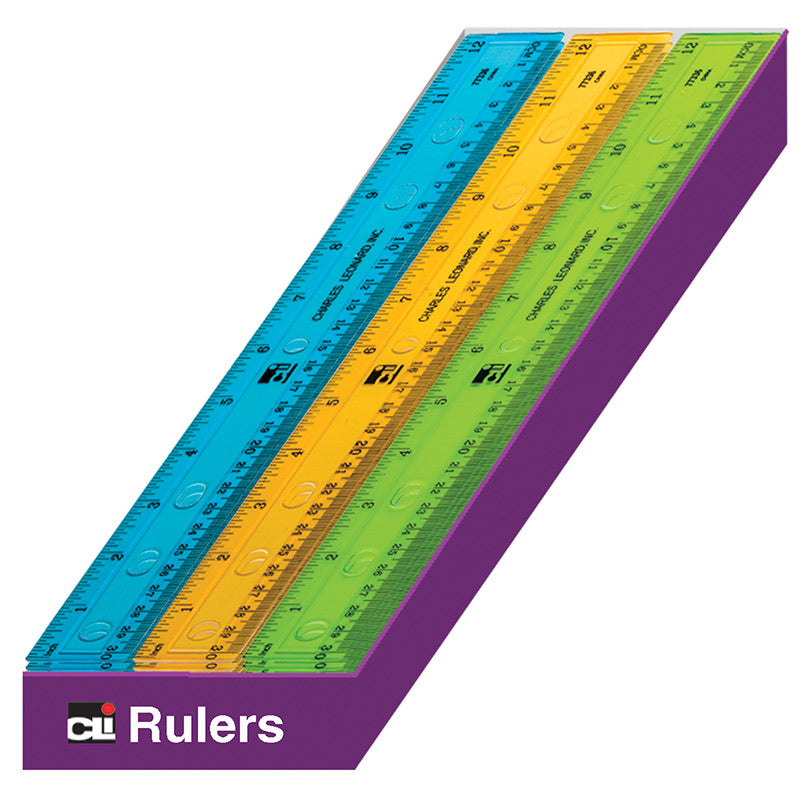 Ruler Plastic 12 inches-single