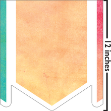 Load image into Gallery viewer, Watercolor Pennants Big Border