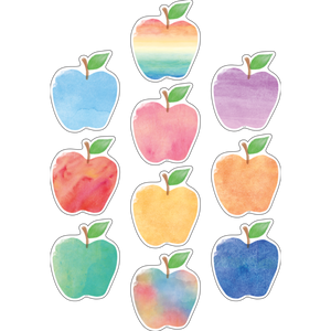 Watercolor Apple Accents