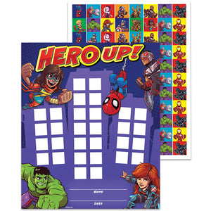 Marvel Super Hero Adventure Mini incentive/ Reward Charts with stickers