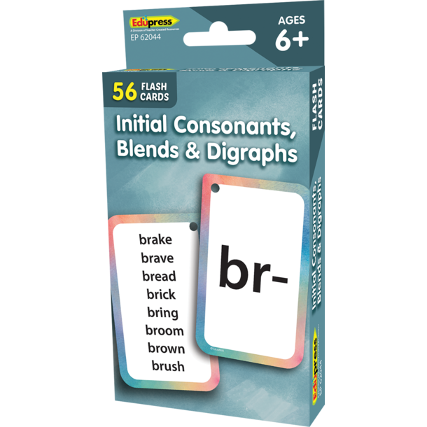 Initial Consonants, Blends & Digraphs Flash Cards