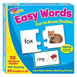 Easy Words Fun to Know Puzzles