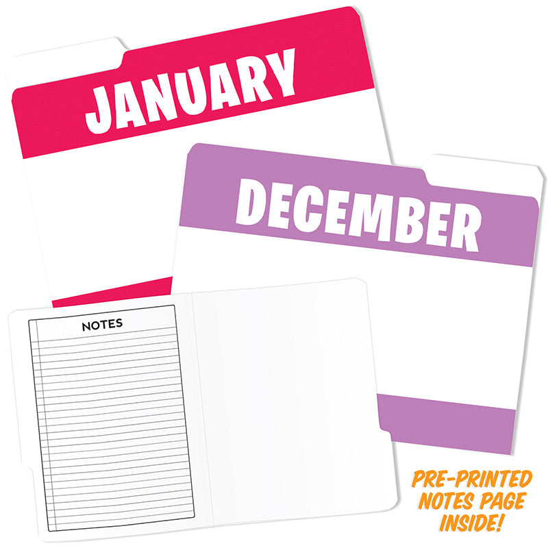 Monthof the Year Design File Folders