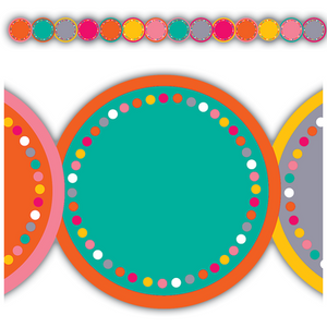 Tropical Punch Circles Border