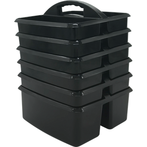 Black Plastic Storage Caddy- single caddy