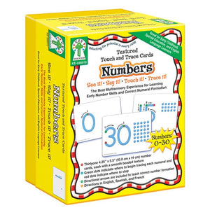 Textured Touch and Trace Cards: Numbers