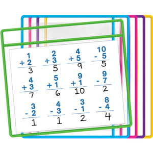 Dry Erase Pockets 5 Colors