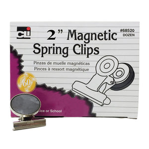 Magnetic Spring Clips Box of 12