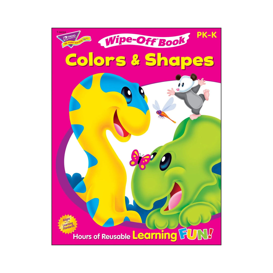 Colors & Shapes Wipe-Off Book