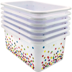 Confetti Small Plastic Storage Bin - single bin