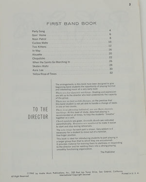 1st Band Book