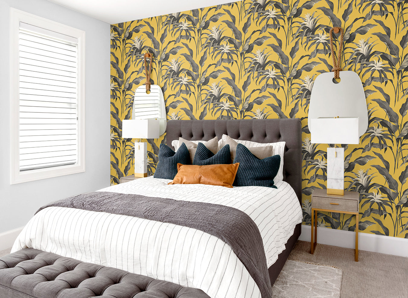 tropical patterned wallpaper