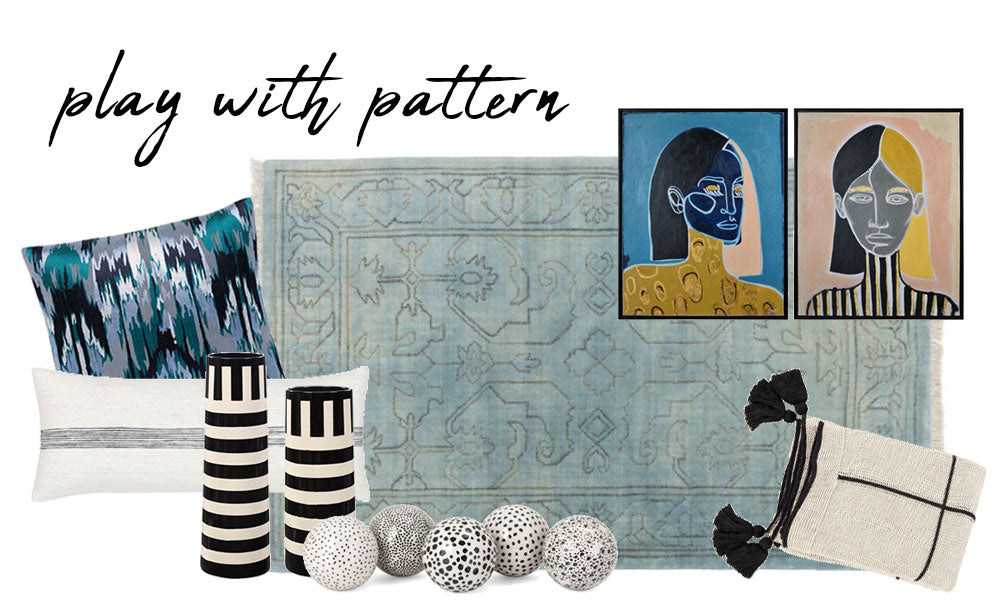 Shop Stacy Garcia_How to Become a Pattern Pro_Pillows, Vases, Area Rug, Decorative Objects, Throw Blankets, Artwork