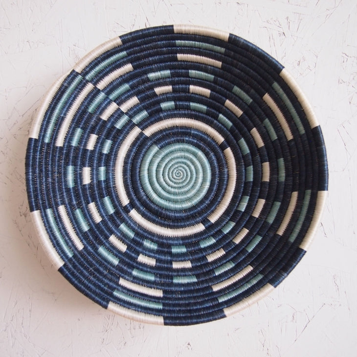 Shop Stacy Garcia_Accessories_Bowls_Blue Patterned Woven Bowl