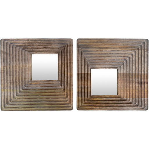 Shop Stacy Garcia, Asymmetrical Wooden Mirror Set of 2