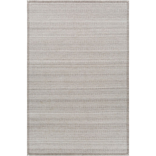 Shop Stacy Garcia, Beige Low Pile Rug Sample with Stitched Border