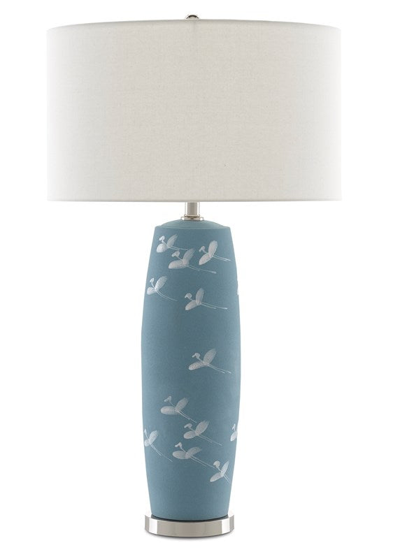 Shop Stacy Garcia, Blue with White Birds Table Lamp