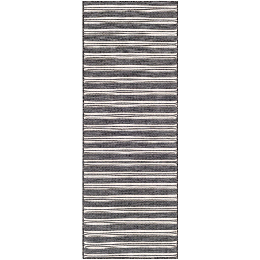 Shop Stacy Garcia, Charcoal Woven Stripe Outdoor Rug Runner