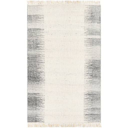Shop Stacy Garcia, Cream and Grey Wool Area Rug with Fringe