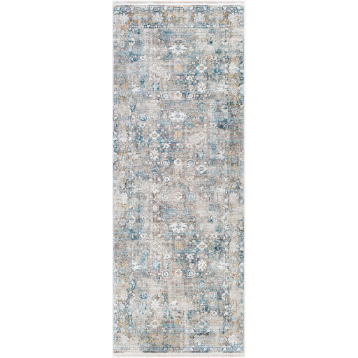 Shop Stacy Garcia, Distressed Grey and Blue Patterned Rug Runner