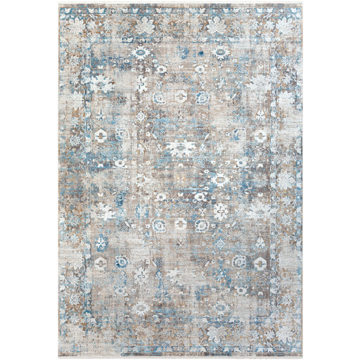 Shop Stacy Garcia, Distressed Grey and Blue Patterned Area Rug