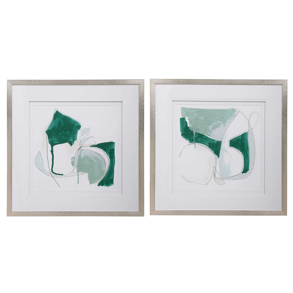 Shop Stacy Garcia, Green Abstract Framed Prints Set of 2