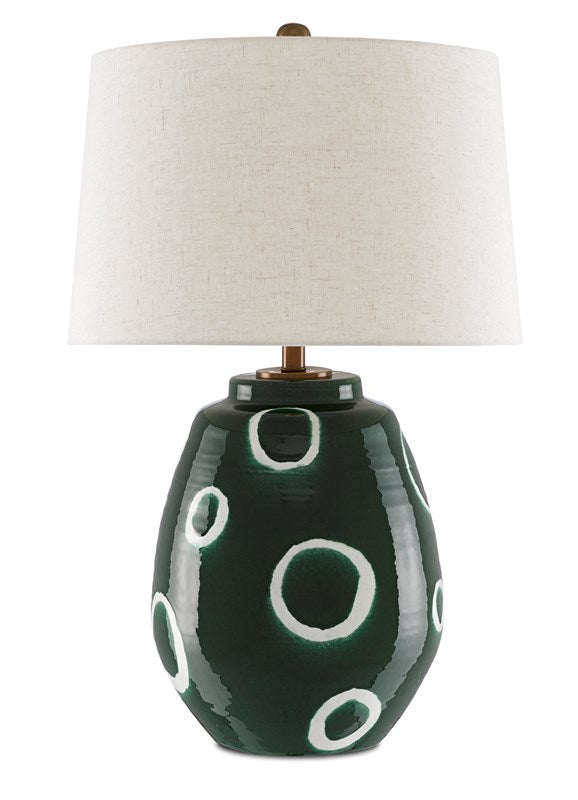 Shop Stacy Garcia, Green with White Circles Table Lamp