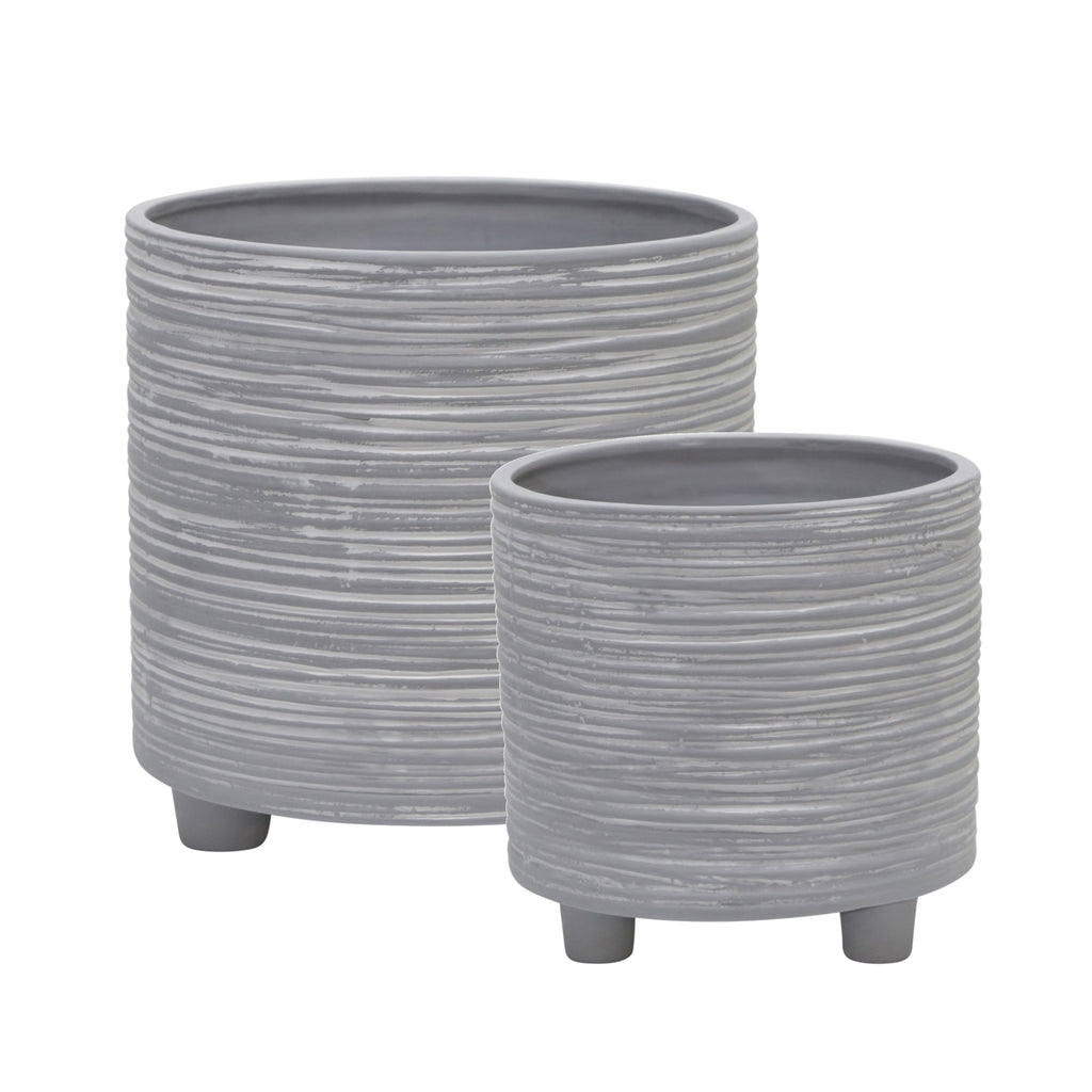 Shop Stacy Garcia, Grey Etched Planter Set of 2