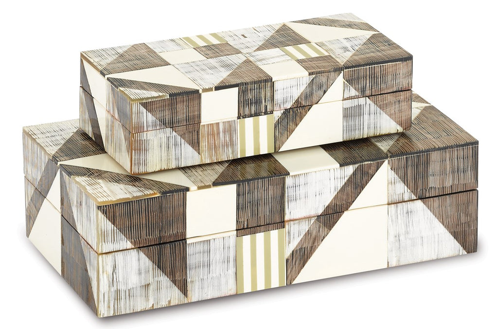 Shop Stacy Garcia, Horn and Wood Geometric Box Set of 2