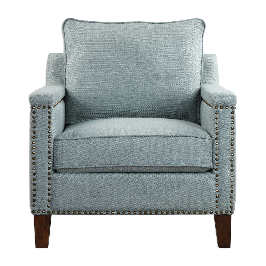 Shop Stacy Garcia, Light Blue Nail Head Lounge Chair