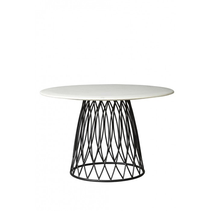 Shop Stacy Garcia, Marble Dining Table on Patterned Steel Base