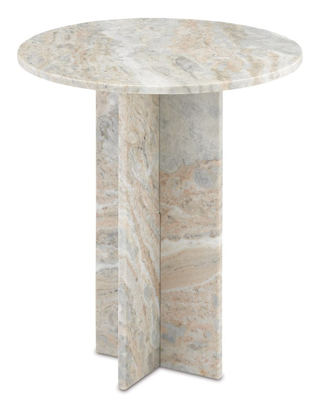 Shop Stacy Garcia, Neutral Marble Pedestal Accent Table