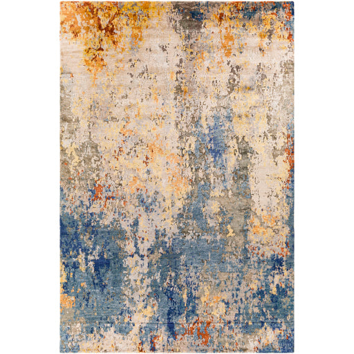 Shop Stacy Garcia, Blue and Orange Abstract Area Rug