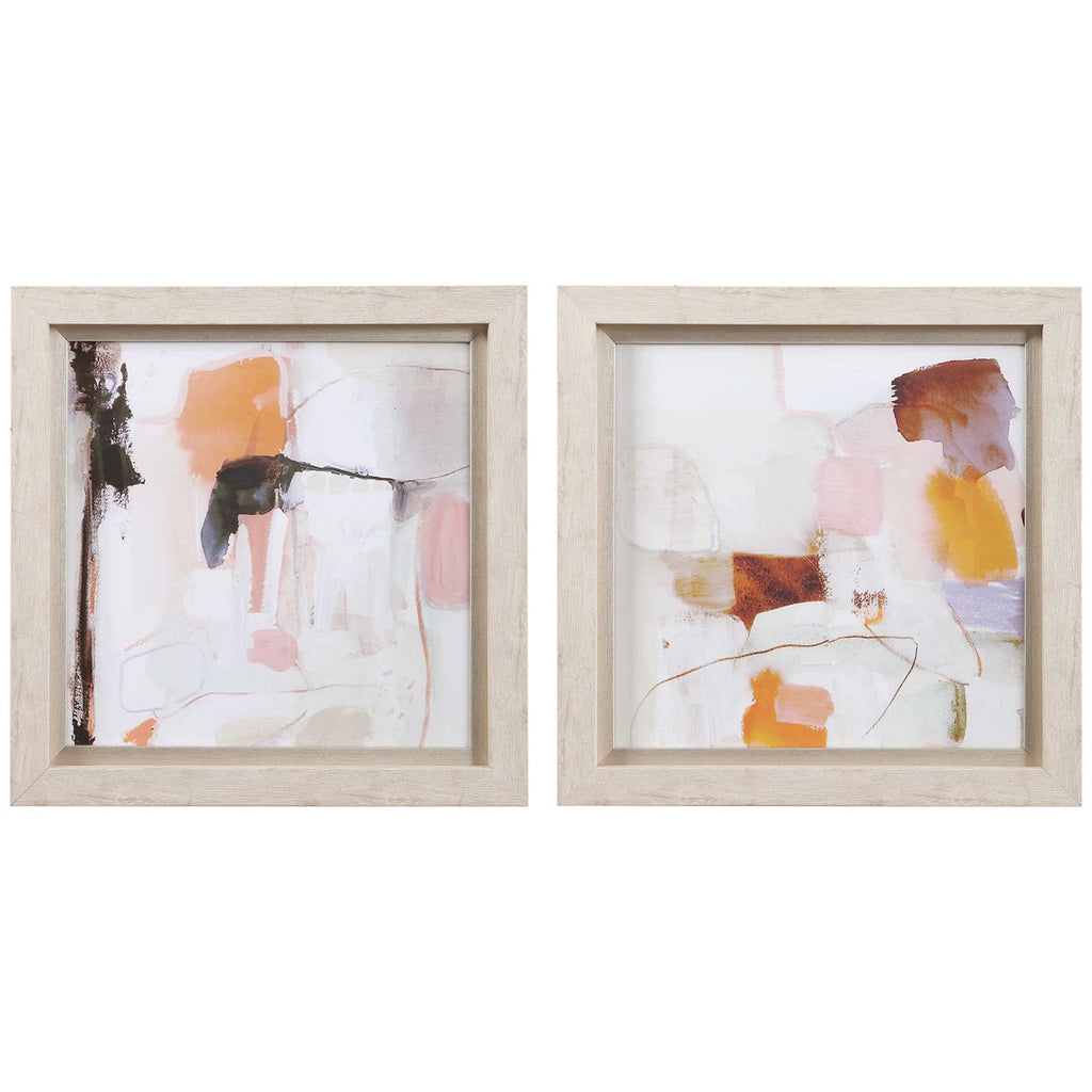 Shop Stacy Garcia, Pink and Orange Abstract Framed Prints Set of 2