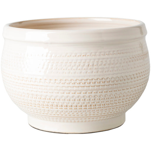 Shop Stacy Garcia, White Textured Ceramic Planter