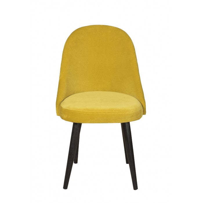Shop Stacy Garcia, Yellow Velvet Armless Dining Chair