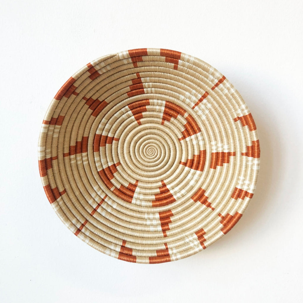 Shop Stacy Garcia, Orange & Beige Woven Bowl