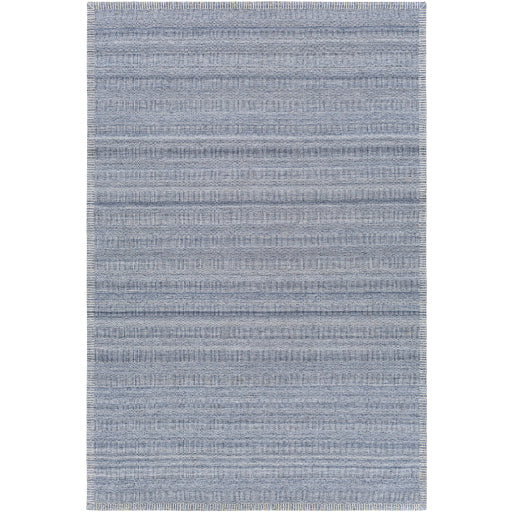 Shop Stacy Garcia, Blue Low Pile Area Rug with Stitched Border