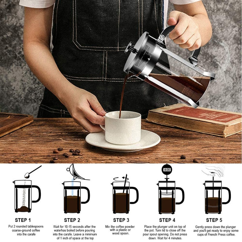 Load image into Gallery viewer, French Press Coffee Maker