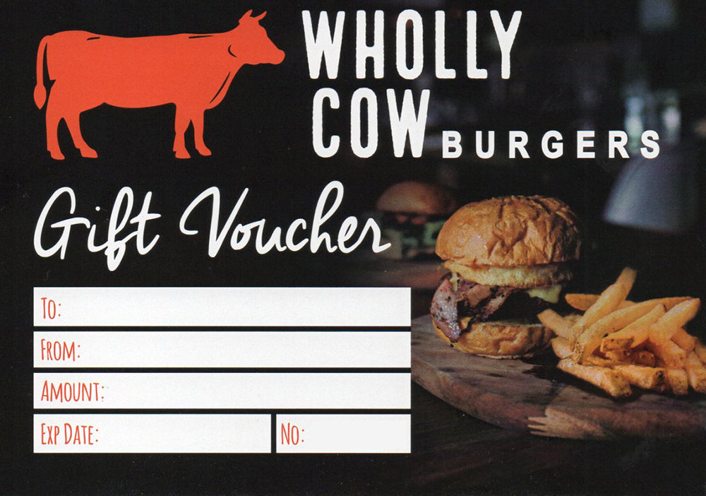Wholly Cow Burgers Gift Card