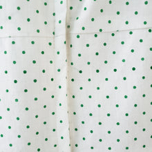 Load image into Gallery viewer, Vintage White & Green Polka Dot Dress