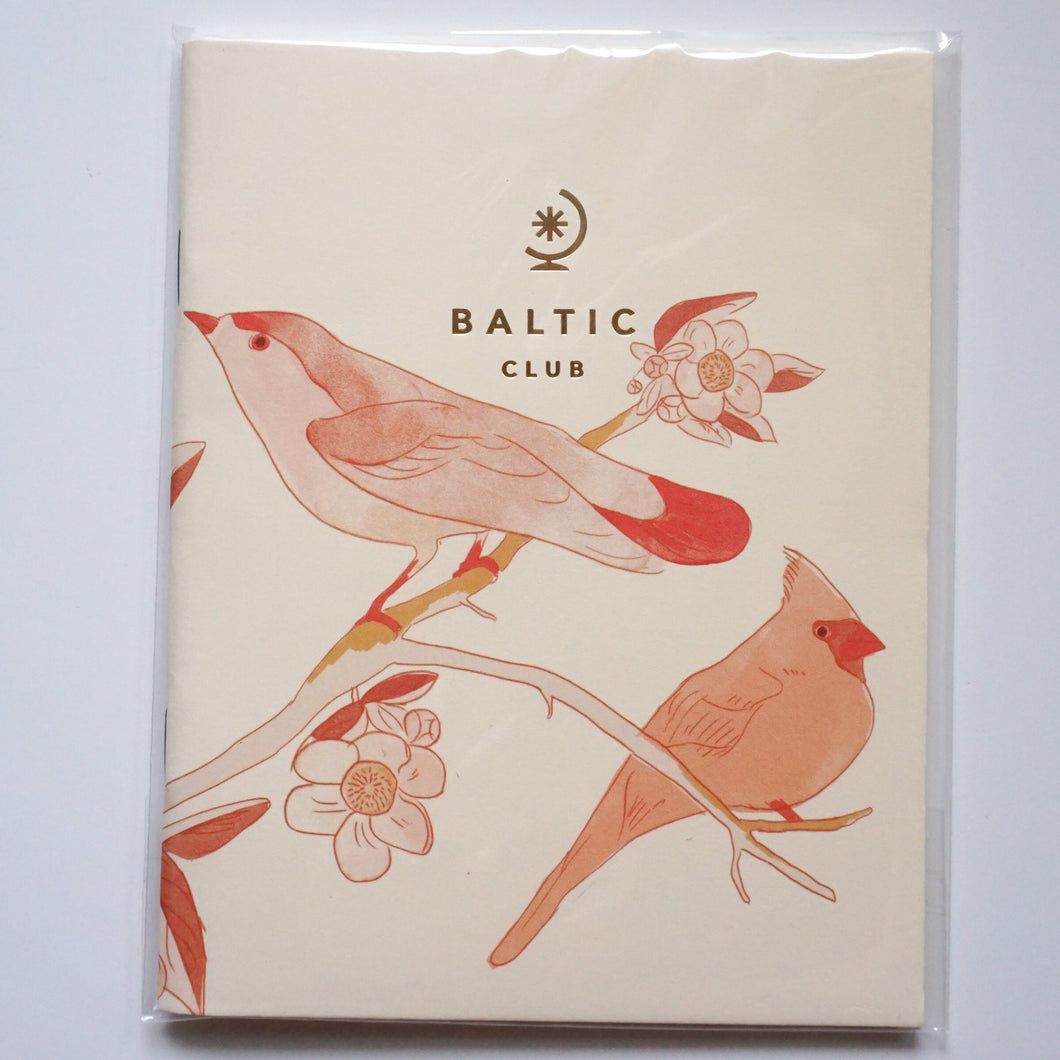 Cherry Blossom Birds - The Baltic Club Pocket Notebook