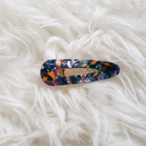 retro colored green orange purple hair clip