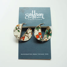Load image into Gallery viewer, White Garden Florentine - Saffron Slice Earrings