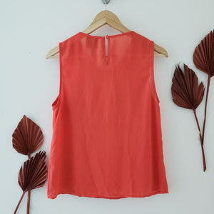 alice in the eve orange tank blouse