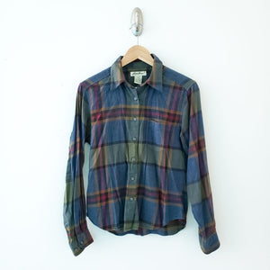 Eddie Bauer Womens Plaid Button Down Shirt