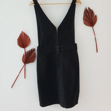 Load image into Gallery viewer, Frank and Oak black pinafore dress