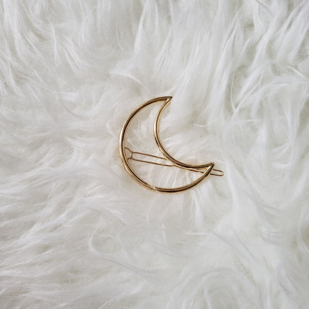 The Foxy Finds Moon Hair Clip (gold)